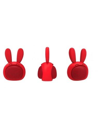 iCutes Kırmızı Tavşan Mini Rabbit Kablosuz Bluetooth Hoparlör M815 Kırmızı